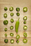 Jalapeno sliced peppers  Royalty Free Stock Image