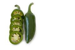 Jalapenos Chili Peppers of Mexicaan Stock Foto