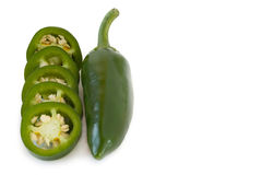 Jalapenos Chili Peppers of Mexicaan Royalty-vrije Stock Fotografie