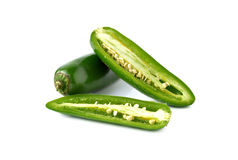 Jalapenos Chili Peppers or Mexican chili peppers on white Stock Image
