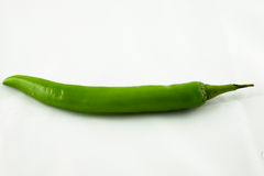 Jalapenos Chili Peppers on white background Stock Photos