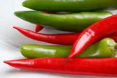 Jalapenos and chilis Stock Images