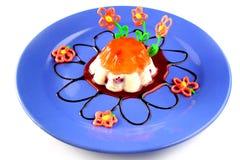 Jalea cremosa y anaranjada Foto de archivo libre de regalías
