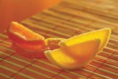 Jalea de fruta en un paño de vector de bambú Fotografía de archivo