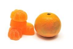 Jalea de la mandarina y de fruta Imágenes de archivo libres de regalías