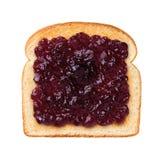 Jalea de uva en tostada Imagenes de archivo