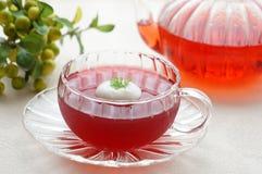 Jalea del té del hibisco Fotos de archivo