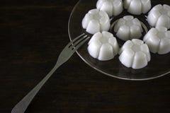 Jalea hecha del postre Tailandia del coco del agua Foto de archivo libre de regalías