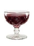 Jalea roja en un tazón de fuente de cristal de la vendimia imagen de archivo libre de regalías