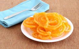 Jalebi dolce indiano dell'alimento Fotografia Stock