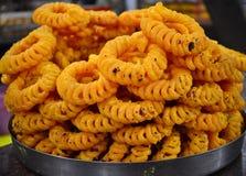 Jalebi indiano imagens de stock