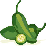 Jalepeno Peppers Royalty Free Stock Images