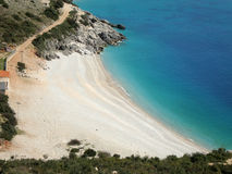 Jali-Bucht, Himara, Süd-Albanien Lizenzfreies Stockbild