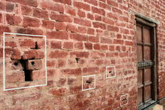 Jallianwala Bagh. Bullet holes at Jallianwala Bagh Stock Image
