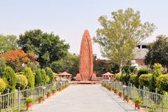 Jallianwala Bagh massakerminnesmärke, Amritsar arkivfoto