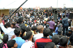 Jallikattu protesters stand firm: 'We'll go home only after SC lifts ban Stock Image