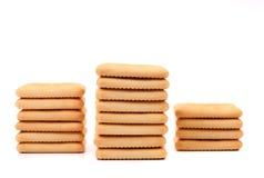 Jalonne le biscuit de soude de saltine. Photos libres de droits