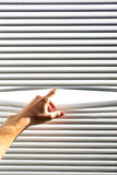 jalousie руки открытый стоковое изображение rf