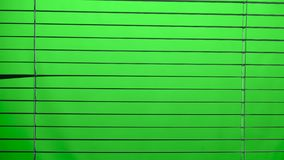 Jalousie aberto e próximo Tela verde filme