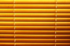 Jalousie amarelo horizontal Imagem de Stock Royalty Free