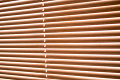 Jalousie wood blinds Stock Photos