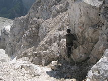 Jalovec sierra trail Stock Photos