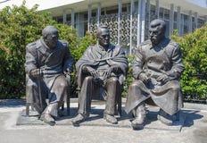Jalta, RUSSIA - 3 luglio: Apertura del monumento dentro immagini stock