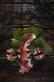 Jamón e higos del pincho Imagenes de archivo