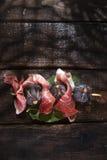 Jamón e higos del pincho Fotografía de archivo