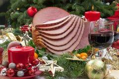 Jamón esmaltado la Navidad Imágenes de archivo libres de regalías