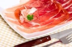 Jamón italiano tradicional. Fotografía de archivo