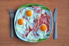 Jamón y huevos Foto de archivo