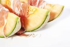 Jamón y melón Imágenes de archivo libres de regalías