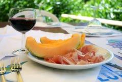 Jamón y melón Fotografía de archivo libre de regalías