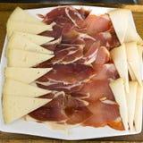 Jamón y queso Imagenes de archivo