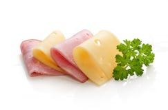 Jamón y queso Fotos de archivo