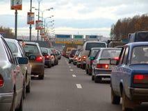 Jam 1 van de weg Stock Foto