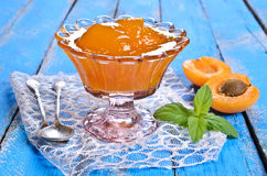 Jam from apricots Royalty Free Stock Images