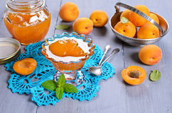 Jam from apricots Stock Image
