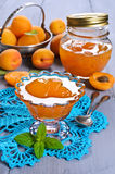 Jam from apricots Stock Photography
