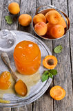 Jam from apricots Royalty Free Stock Photos