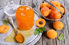 Jam from apricots Stock Photos