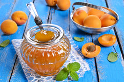 Jam from apricots Stock Images