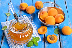 Jam from apricots Stock Photo