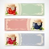 Jam banners set Royalty Free Stock Images