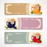 Jam banners set Royalty Free Stock Image