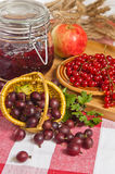 Jam with berries Royalty Free Stock Images