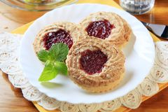 Jam biscuits Royalty Free Stock Photos