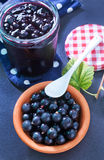 Jam from black currant Royalty Free Stock Image
