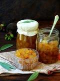 Jam from black radish with honey and sage Stock Photos